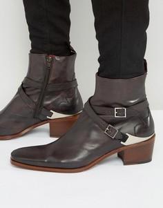 Кожаные ботинки Jeffery West Manero Jodphur - Коричневый
