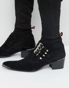 Кожаные ботинки с пряжками Jeffery West Sylvian - Черный
