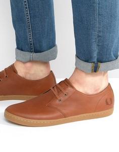 Низкие кожаные кроссовки Fred Perry Byron - Рыжий