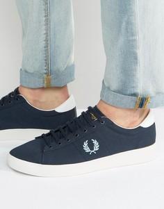 Парусиновые кроссовки Fred Perry Spencer - Темно-синий