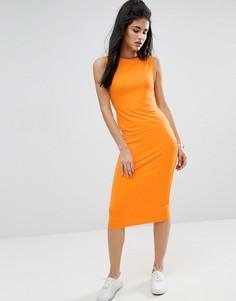 Платье-майка миди без рукавов ASOS - Оранжевый