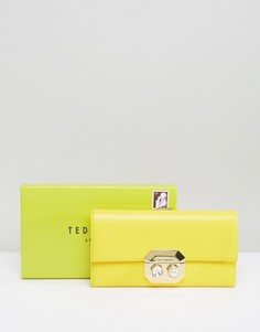 Кошелек с жемчужным замочком спереди Ted Baker - Желтый