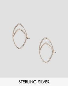 Серьги-кольца из позолоченного серебра ASOS - Медный