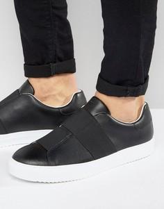 Черные кроссовки с эластичными ремешками Armani Jeans - Черный