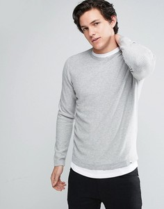 Джемпер в полоску с круглым вырезом Jack & Jones Core - Серый
