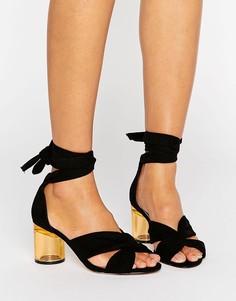 Сандалии на каблуке ASOS HOLLOW - Черный