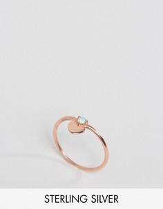 Серебряное кольцо с сердцем и покрытием из розового золота ASOS - Медный