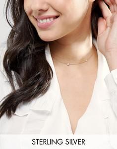 Ожерелье-чокер из позолоченного серебра с сердцем ASOS - Медный