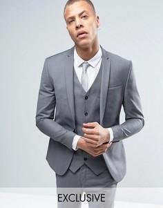 Супероблегающий пиджак Noak - Серый