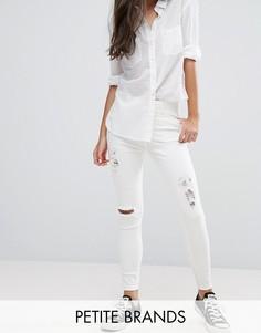 Рваные джинсы скинни New Look Petite - Белый