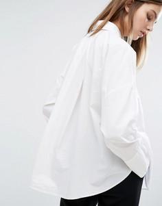 Рубашка с широкими складками на спине Weekday - Белый