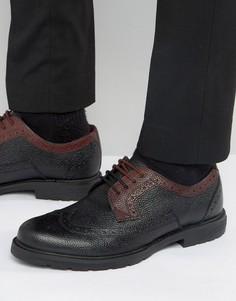 Черно-красные кожаные броги Ted Baker Vortle - Черный