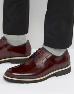 Бордовые кожаные туфли дерби Ted Baker Oktibr - Красный