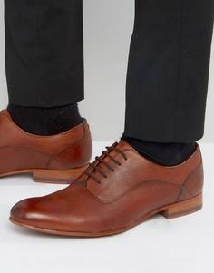 Светло-коричневые кожаные туфли на шнуровке Ted Baker Minski - Рыжий