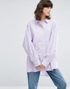 Oversize-рубашка Weekday - Фиолетовый