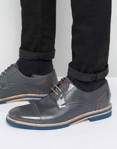Серые кожаные туфли-дерби Ted Baker Braythe 2 - Серый