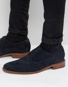 Синие замшевые туфли дерби Ted Baker Joehal 2 - Синий