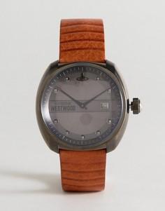 Часы с коричневым кожаным ремешком Vivienne Westwood VV080GNTN Bermondsey - Коричневый