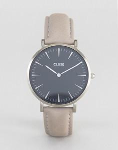Часы с серым кожаным ремешком Cluse La Boheme - Серый