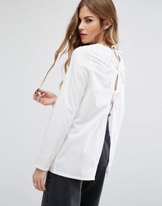 Рубашка со шнуровкой на спине Noisy May - Белый