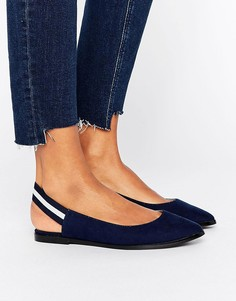 Туфли с эластичным ремешком через пятку New Look - Темно-синий
