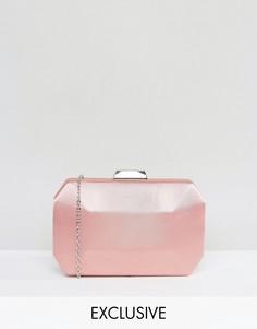 Атласный клатч Chi Chi London - Розовый