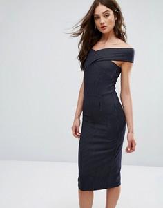 Платье в тонкую полоску Y.A.S Dawn - Темно-синий