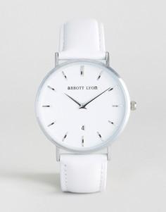 Часы с белым кожаным ремешком Abbott Lyon Kensington 40 - Серый