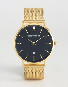 Часы с черным циферблатом и золотистым браслетом Abbott Lyon Kensington 40 - Золотой