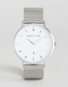 Часы с серебристым браслетом Abbott Lyon Kensington 40 - Серебряный
