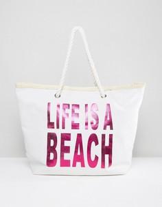 Пляжная сумка Life Is A Beach South Beach - Розовый