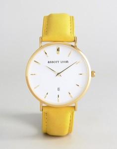 Часы с замшевым ремешком горчичного цвета Abbott Lyon Kensington 40 - Желтый