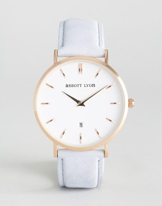 Часы с серым замшевым ремешком Abbott Lyon Kensington 40 - Серый