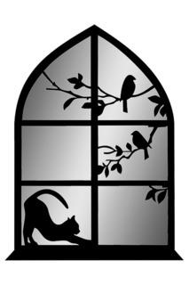 """Зеркало """"Кошка на окне"""" W-ERA"""