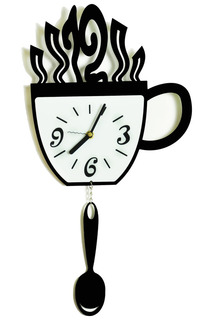 """Часы """"Чашка и ложка"""" W-ERA"""