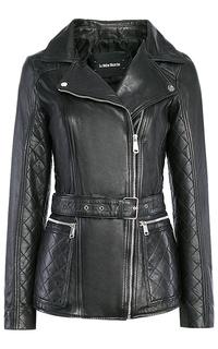 Удлинённая кожаная куртка La Reine Blanche
