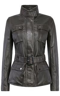 Кожаная куртка с поясом La Reine Blanche