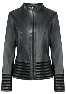 Комбинированная куртка из натуральной кожи и замши LE Monique