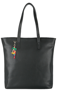 Кожаная сумка с брелком La Reine Blanche
