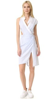 Асимметричное платье с эффектом поношенности Alexander Wang