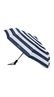 Дорожный зонт Jubilee в полоску Kate Spade New York