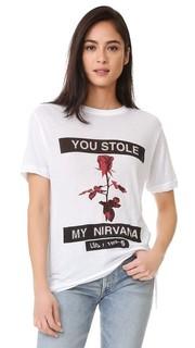 Прозрачная футболка Nirvana Rose Ksubi