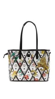 Двусторонняя объемная сумка-шоппер Visetos MCM