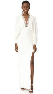 Вечернее платье с длинными рукавами Monique Lhuillier