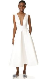 Вечернее миди-платье Monique Lhuillier
