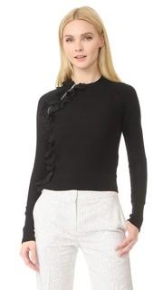 Спортивный пуловер с оборками и молнией 3.1 Phillip Lim