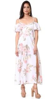 Платье с открытыми плечами и оборками Somedays Lovin