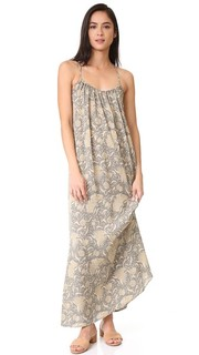 Винтажное длинное платье с цветочным рисунком Vince