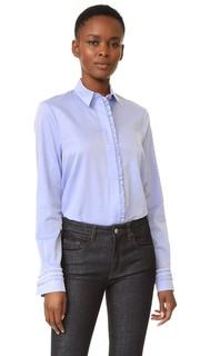 Рубашка трапециевидного силуэта с оборчатой отделкой Victoria, Victoria Beckham