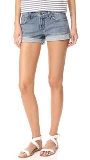 Свободные шорты-бойфренды с подвернутым низом James Jeans